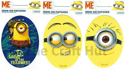 LARGE Despicable Me MINIONS 11x7cm Embroidered Iron Sew on Patch Applique Badge
