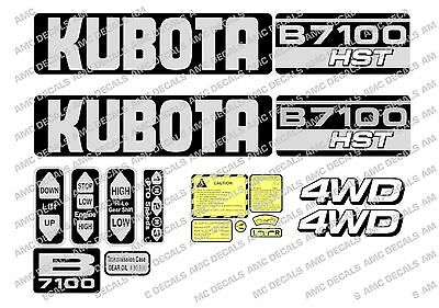 Kubota  B7100 Hst Compact Tractor Decal Sticker Set