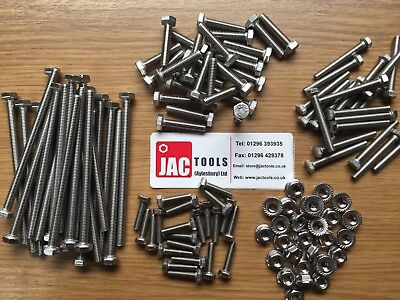 Hex Head Setscrews Inc Serrated Flange Nuts A2 Stainless Steel M5 M6 Bolts