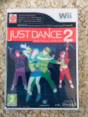 Just Dance 2 Nintendo Wii Game Original With Holographic Cover New Sealed
