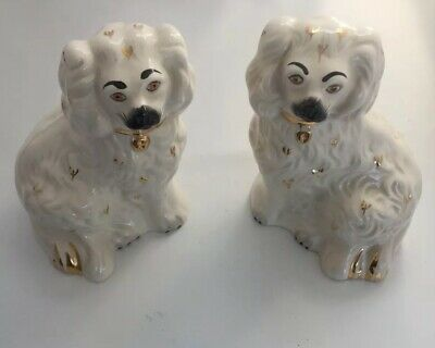 Pair of Vintage ROYAL DOULTON/ BESWICK Mantel Spaniel WALLY DOGS Figurines (16)