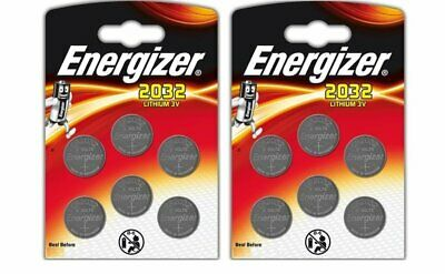 Energizer 12 x CR2032 Lithium Coin Cell 3V Battery DL2032 BR2032 SB - Pack of 12