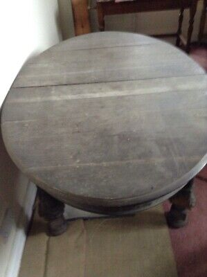 Antique Oak Oval Extending Table