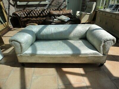 Victorian mint green sofa  great condition.
