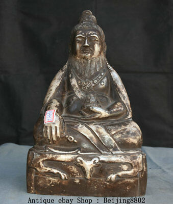 "12.2"" Old Chinese Taoism The Founder the Very High Lord Laotse Statue Sculpture"