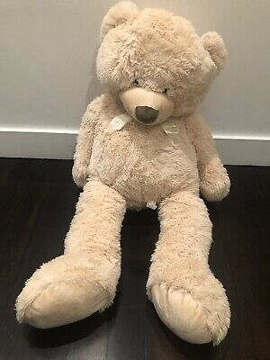 Huge 97Cm Giant Beige Teddy Bear Cuddly Soft Plush Toy Doll Stuffed