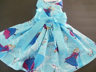 Dog Dress/Harness  Frozen Elsa And Friends  New   Free Shipping