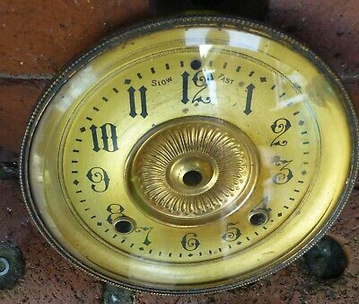 Mantel/carriage clock brass Dial bezel and bevelled glass very good quality