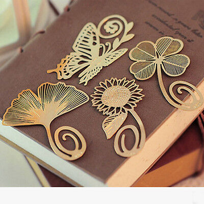 Mini Cute Metal Bookmark Clips Antique Plated Butterfly Bookmarks Stationery