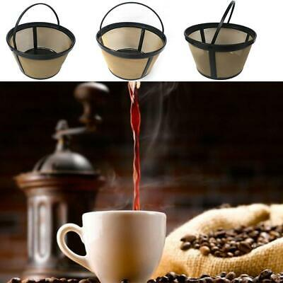 1XCup Coffee Filter Basket Style Reusable Permanent Metal Mesh Home Kitchen Tool