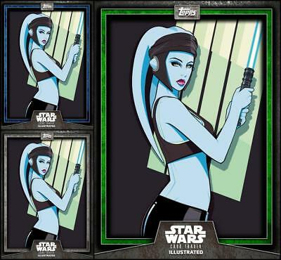 Topps Star Wars Card Trader Illustrated 6-2 #4 BLUE/GREEN/GRAY Aayla Secura CTI