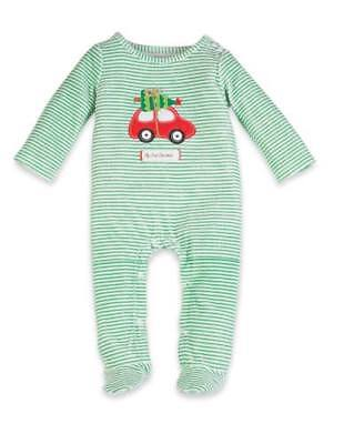 Mud Pie 'My First Christmas' Holiday Car Babygrow - 9-12 months