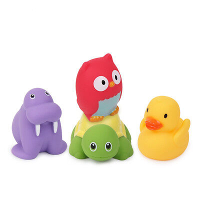 Lovely Bath Toys Cute Soft Rubber Float Squeeze Sound Sets Animals Play Toy Gift