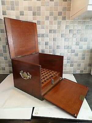 Victorian Mahogany 'edgar Lincoln' Coin Cabinet Box With 137 Old Coins Lock& Key
