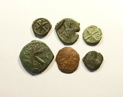 Ancient Byzantine Bronze Coin - LOT OF 6