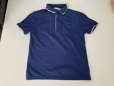 Hugo Boss Boys Polo T Shirt, Size Age 10 Years, 138 Cm, Slim Fit, Blue, GC