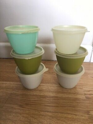 Original Vintage Retro Tupperware Containers X6 With Lids