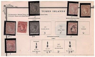 Turks Islands classic stamp collection !!