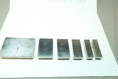 Johansson machinist block gauge Ford Motor Corporation Dearborn - Lot of 6