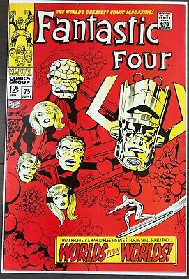 Fantastic Four #75 FN/VF Classic Jack Kirby cover!KEY ISSUE!L@@K!