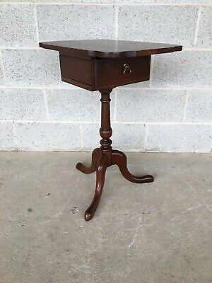 Statton Old Towne Solid Cherry Queen Anne Style Tilt Top Jewelry Box Table