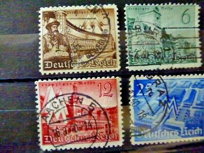 Germany Hitler Third Reich 1940 Leipzig Messe Complete set of four VFU