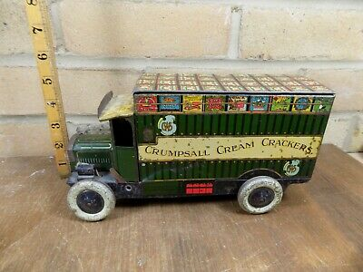 CWS Delivery Truck advertising Biscuit Tin c1930s