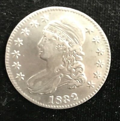 1832 AU Details Tooled Capped Bust Half Dollar