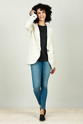 NEW Brave & True Womens Blazers Asti Blazer Natural - Coats
