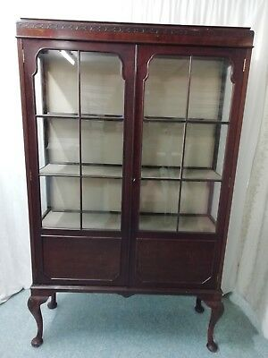 Vintage Display Cabinet Mahogany