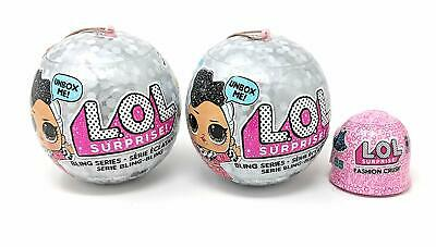 x2 Lol Surprise Dolls Bling Series + x1 Fashion Crush Bundle NEW! Gift Idea