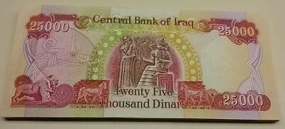 GOING FAST!! 40 Uncirculated 25k IQD Notes - ONE (1) MILLION IRAQI DINAR