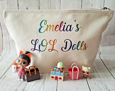 LOL Surprise Dolls Bag Personalised Toy Storage Rainbow for Confetti Series 3