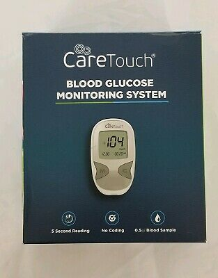 Care Touch Blood Glucose Monitoring System W/Test Strips, Gauge Lancets