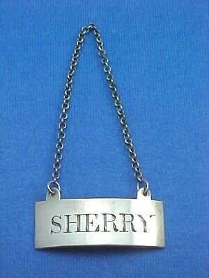 "Scottish Sterling Silver Decanter Wine Label ""Sherry"" Circa 1800 Edinburgh"
