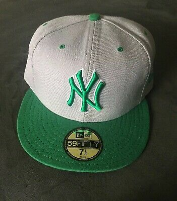 low priced f2be9 e0622 New Era NY Yankees Baseball Cap Gray   Green Fitted Hat 7-5 8