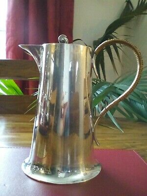 ANTIQUE SILVER PLATED COFFEE POT /HOT CHOCOLATE - TILTING LID-A & J Zimmerman