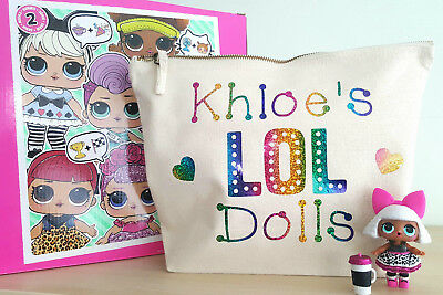 LOL Surprise Dolls Bag Personalised Toy Storage for dolls, pets & accessories