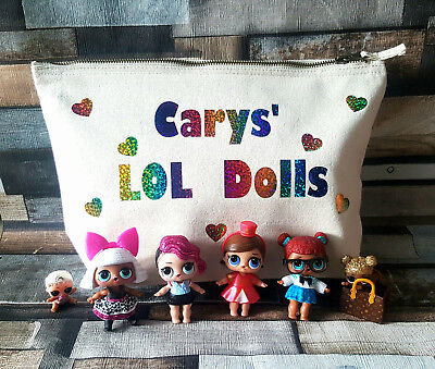 LOL Surprise Dolls Bag. Personalised Toy Storage for dolls, pets & accessories