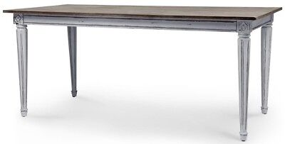 MADE.COM Bourbon Vintage Dining Table Distressed Grey RRP £329