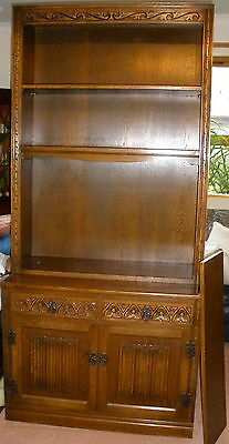 Solid OAK with carvings DRESSER CABINET by OLD CHARM - AB39 or G11