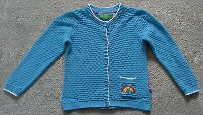 Little Bird Blue Rainbow Cardigan 12 18 Months
