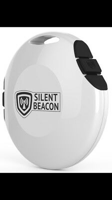 Wearable Safety Device Silent Beacon Panic Button Emergency Alert White