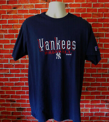 80b3beac43b3d Vintage 1997 MLB New York Yankees Pro Player Navy Blue Large Embroidered T  Shirt
