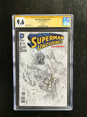 Superman Unchained #8 Sketch Variant CGC SS 9.6 Signed by writer Scott Snyder
