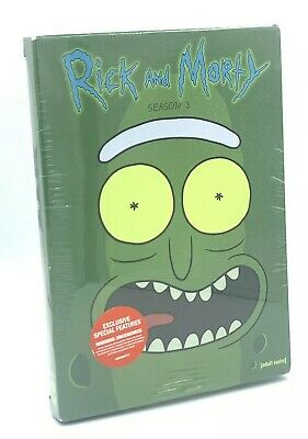 Rick and Morty: Season 3 (DVD, 2018; 2-Disc Set) NEW w/ Slipcover