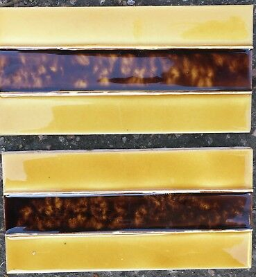 4 Tube-lined hand painted & glazed fire place set of luxurious-spacer tiles