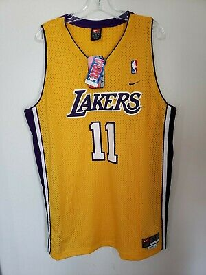 cf44bfcd4de NWT VTG Nike Los Angeles Lakers Karl Malone Gold Swingman Jersey Mens XL  Kobe