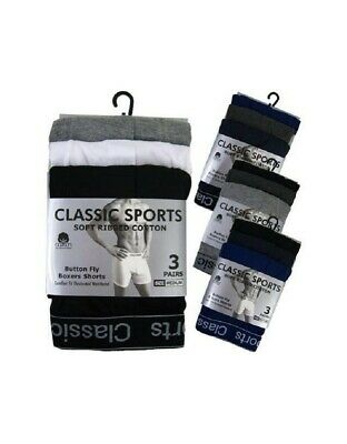 Pack Of 12 Mens Boxers Shorts Classics Comfort Fit Underwear ** BRAND NEW