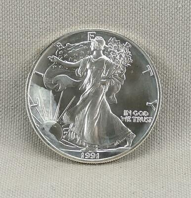 1991 One Ounce Uncirculated Silver American Eagle! No Reserve!